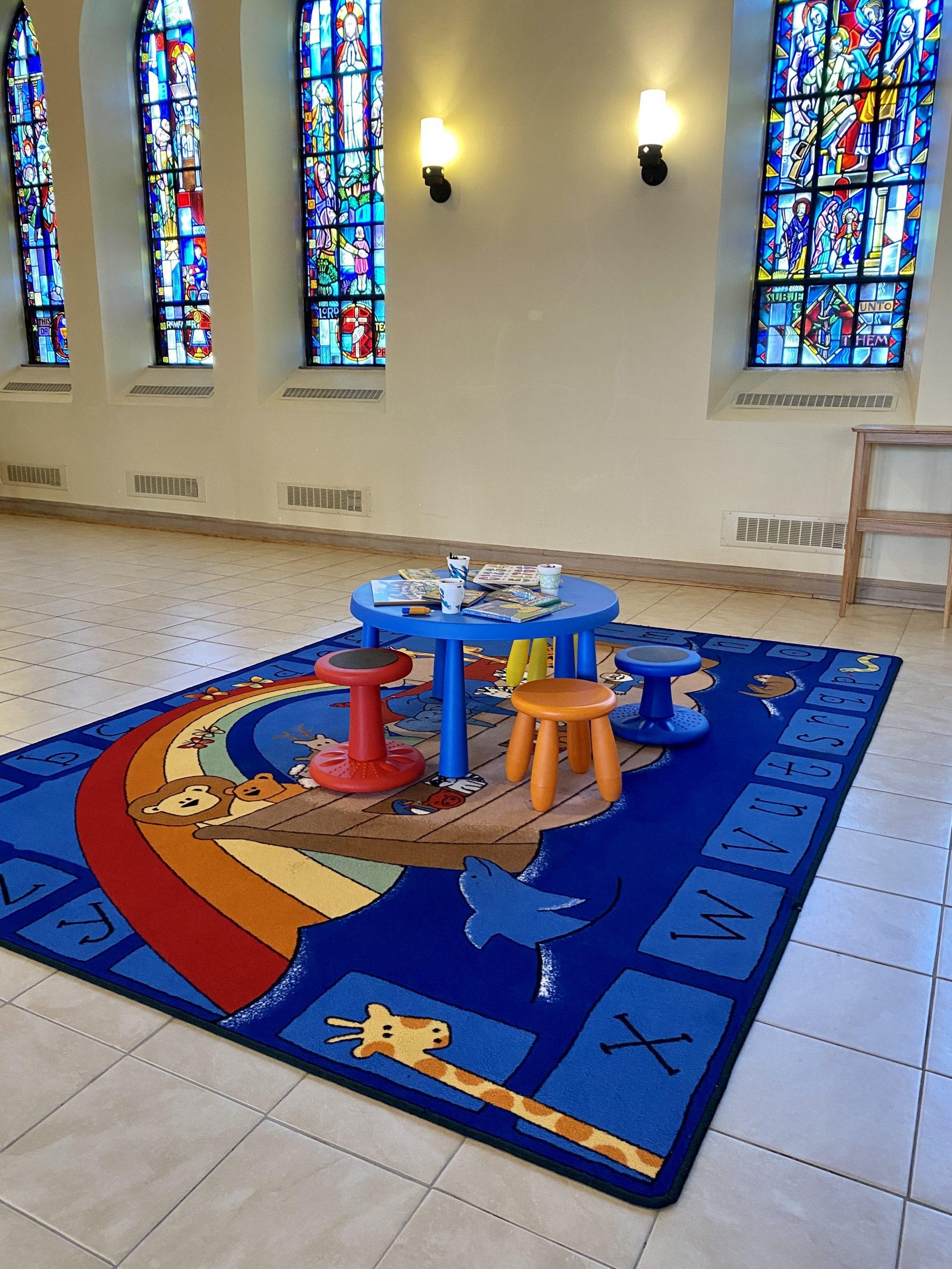 """Worship """"prayground"""" at First Lutheran Church Janesville"""
